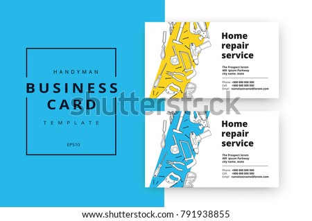 Home improvement corporate business card repair stock vector 2018 home improvement corporate business card repair stock vector 2018 791938855 shutterstock reheart Image collections