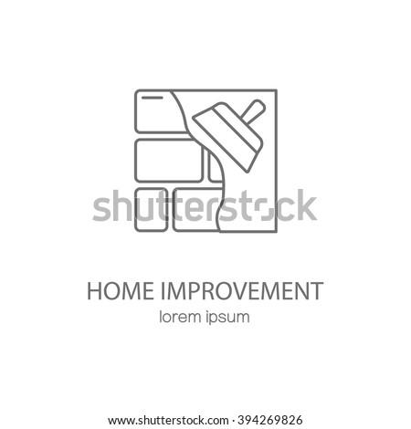 Home improvement logotype design templates. Modern easy to edit logo template. Vector logo design series. - stock vector
