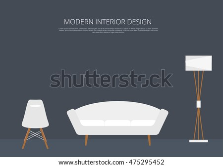 Home interior. Interior design of a living room