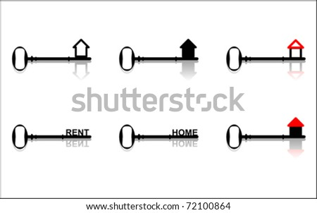 Home key - stock vector
