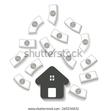 Home Loan and Flows money,Illusion, Vector - stock vector
