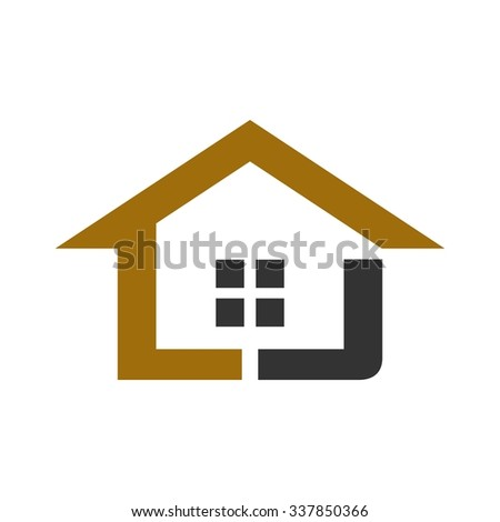 home logo with letter J. logo vector.