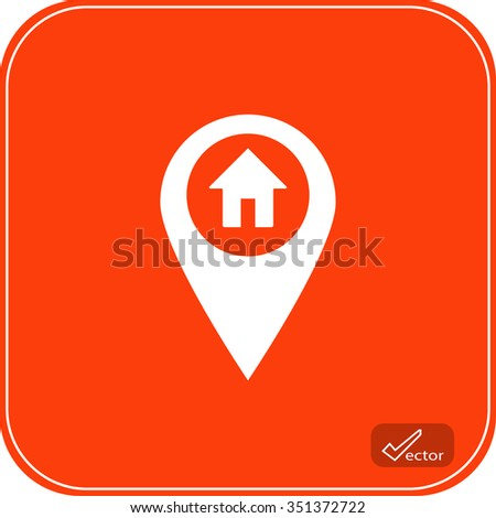 home map pointer pin icon