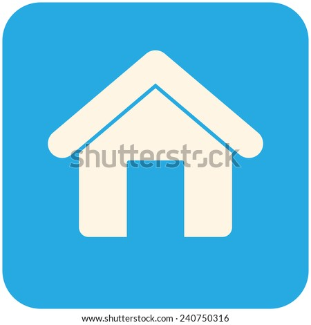 Home, modern flat icon - stock vector