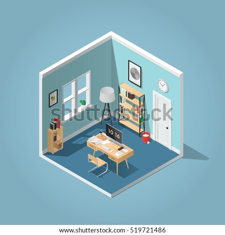 Isometric room stock images royalty free images vectors for Detailed home search