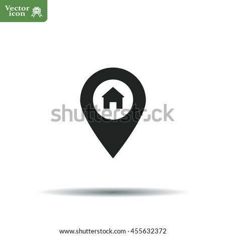 Home pin , Map pin icon