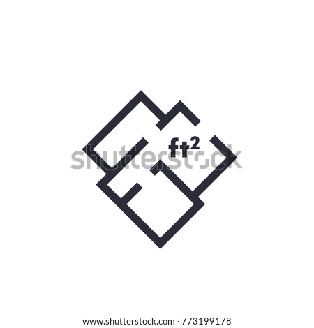 Home Plan Apartment Room Layout Vector Stock Vector