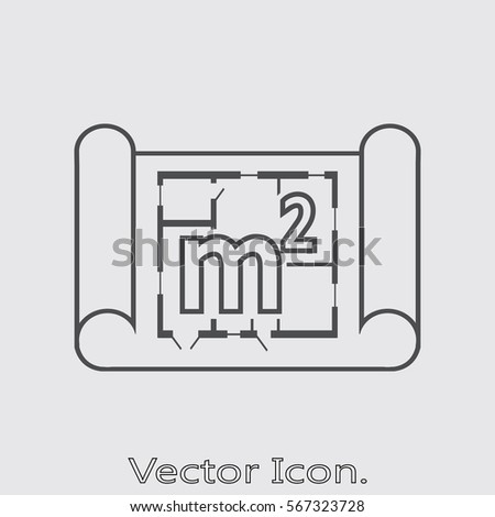 Home Plan Icon Isolated Sign Symbol Stock Vector