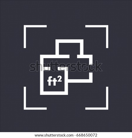 Floor Plan Drawing Icon Size Stock Vector Shutterstock