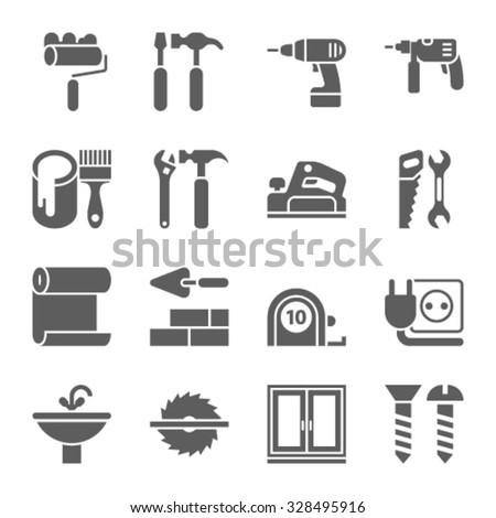 Home repair icons  - stock vector