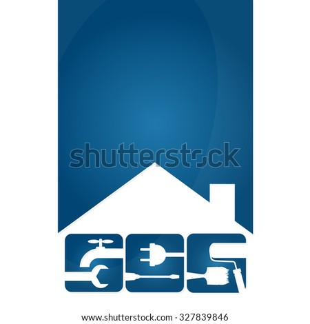 Home repair symbols for the business, vector - stock vector