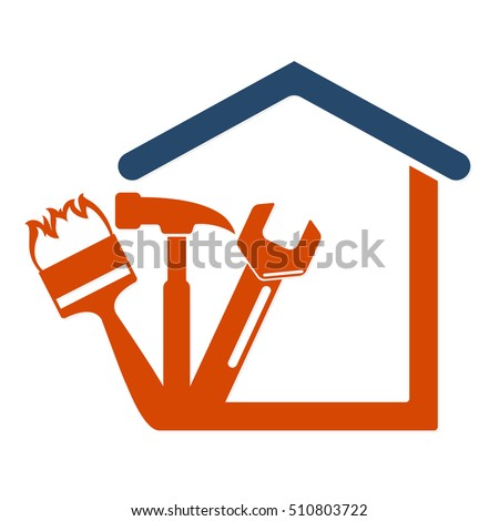 Home repair with the tool symbol vector Business