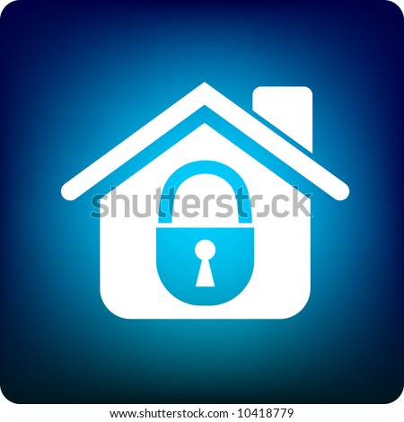 home security - stock vector