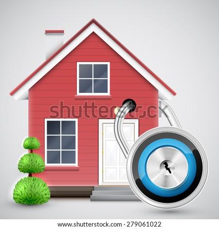 Home security, vector - stock vector