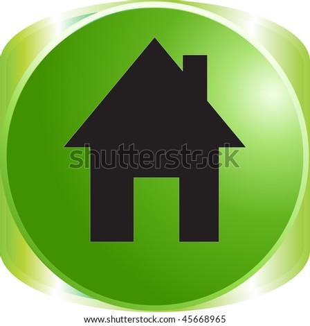 home sign icon button - stock vector