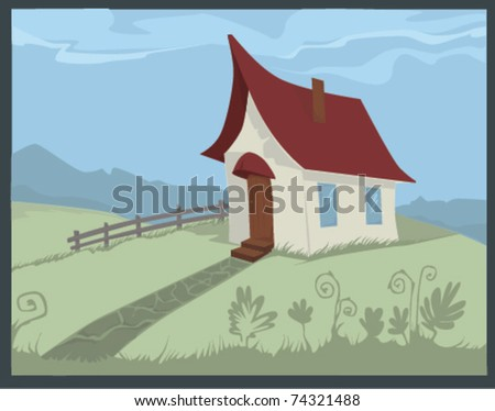home, sweet home - stock vector