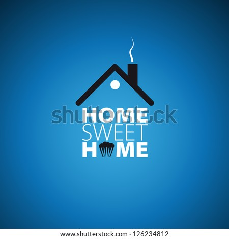 Home sweet home card - vector illustration - stock vector