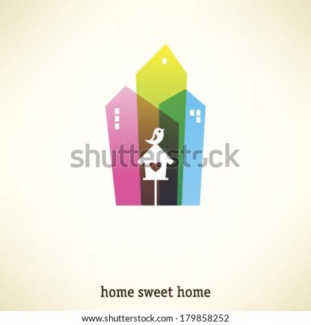 Home sweet home emblem - stock vector