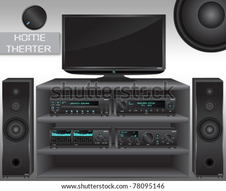 Home Theater - stock vector