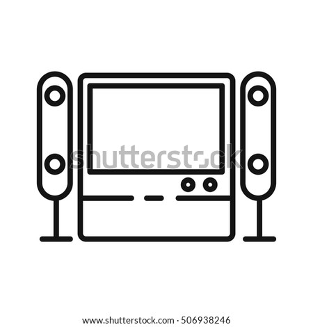 home theater system vector illustration design