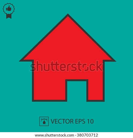 Home vector icon EPS 10. Simple isolated house symbol.