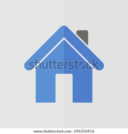home vector icon. Flat design - stock vector
