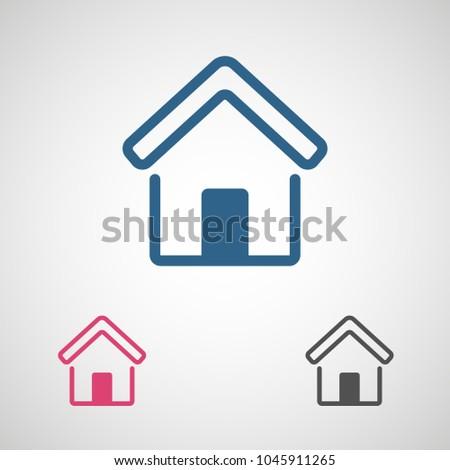 Home Vector Icon House Icon Estate Stock Vector 1045911265