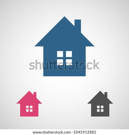 Home Vector Icon House Icon Estate Stock Vector 1045912882