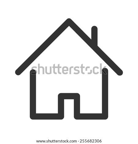 Home vector image to be used in web applications, mobile applications and print media. - stock vector