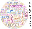 HOME. Word collage on white background. Vector illustration. Illustration with different association terms. - stock photo