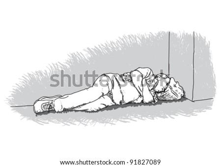 Homeless - stock vector