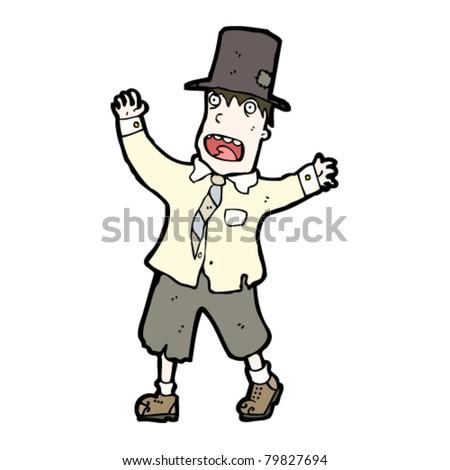 homeless crazy person cartoon - stock vector