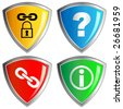homepage - buttons - security - stock vector