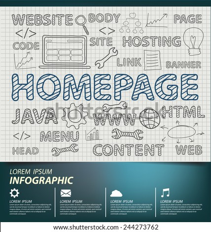 Homepage concept vector Illustration - stock vector