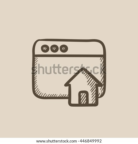 Homepage vector sketch icon isolated on background. Hand drawn Homepage icon. Homepage sketch icon for infographic, website or app. - stock vector