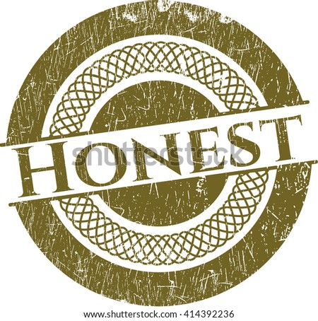 Honest with rubber seal texture - stock vector