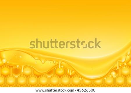 Honey background, mesh - stock vector