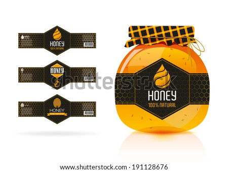 Honey banner - sticker design. - stock vector