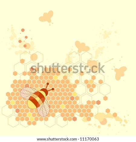 Honey Bee Design - stock vector