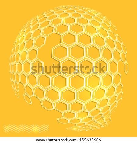 honey, honeycomb - stock vector