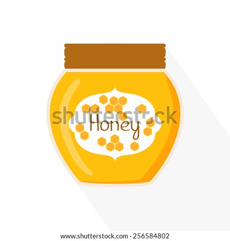 Honey jar icon. Isolated vector illustration - stock vector