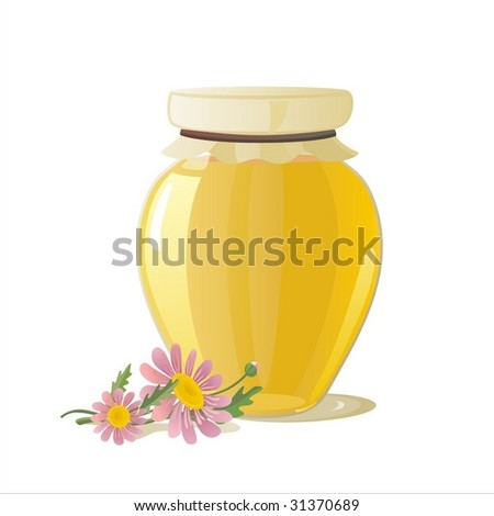 honey pot - stock vector