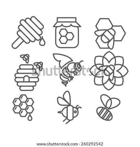 honey sweets - stock vector