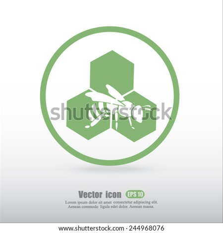 Honey vector icon - stock vector