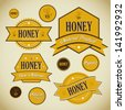Honey Vector Label Collection - stock vector