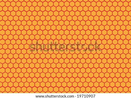 Honeycomb background texture - stock vector