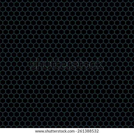 Honeycomb Black Pattern Design
