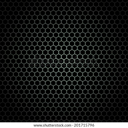 Honeycomb Black Seamless Pattern Design
