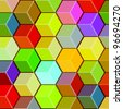 Honeycomb Cubes - Abstract Background Vector - stock vector