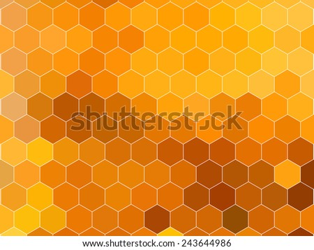 Honeycomb pattern - stock vector